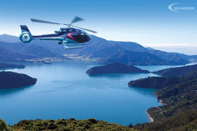 Stories from our backyard: Scenic flights Marlborough Sounds